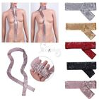 Ladies Sparkle Sequins Scarf Women's Long Thin Neck Tie For Club Party Cocktail