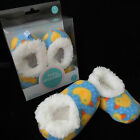 BABY SNOOZIES, COZY SOFT FLEECE FOOT COVERINGS/SLILPERS DUCK DESIGN 3 SIZES PICK
