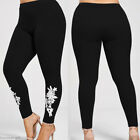 Sexy Womens Lace Flower Skinny Leggings Pants Stretchy High Waist Trousers GIFT