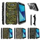 For Samsung Galaxy On7 | J7 Prime | J7 Halo (2017) Stand Clip Case Abstract Camo