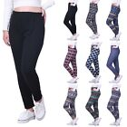 Women's Winter Leggings Warm Thermal High Waist Patterned Pants