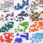 Wholesale 6x8mm Faceted Glass Crystal DIY Findings Spacer Loose Oval Beads NEW