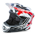 NEW 2017 FLY RACING DEFAULT BMX MTB DH ADULT HELMET RED/BLACK/WHITE ALL SIZES