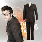 Doctor Who Tenth 10th DR. David Tennant Halloween Cosplay Costume Brown Suit