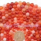 """4,6,8,10,12mm Faceted Multicolor Round Carnelian Agate Gemstone Beads Strand 15"""""""