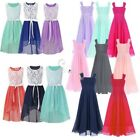 Kids Wedding Bridesmaid Flower Girl Pageant Christening Chiffon Dress Party Gown
