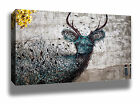 TWIG DEER GRAFFITI STREET ART HIGH QUALITY MODERN WALL CANVAS PRINT HUGE SIZES