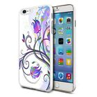 White Purple Flower Mix Design Shockproof Hard Case Cover For Mobiles