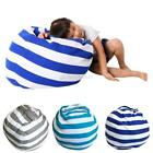 US Stuffed Animal Storage Bean Bag Chair Cotton Fabric With Convenient Handle
