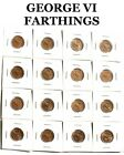 """GEORGE VI & ELIZABETH II FARTHING PLEASE CHOOSE YOUR DATES"""" FREE DELIVERY ON 3 O"""