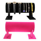 Velvet Headband Watch Necklace Jewelry Display Holder Stand Rack Organizer