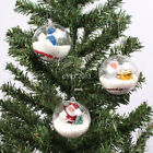 5/8cm Clear Plastic Craft Ball Christmas Acrylic Transparent Sphere Bauble UK