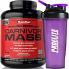 MuscleMeds Carnivor Mass 2.5kg Anabolic Beef Protein Gainer+Free Shaker AnyColor