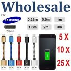 USB Type-C Braided Data Charger Cable Cord For Samsung S8 /S8 Plus Note 8 Lot