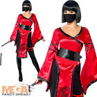 Shadow Warrior Ladies Fancy Dress Oriental Chinese Ninja Womens Adults Costume