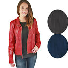 Jessica Simpson Women's Quilted Faux Leather Moto Jacket Coat