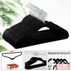 10/50/100 PCS Non Slip Velvet Clothes Suit/Shirt/Pants/Trousers Hangers w/Clips
