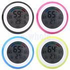 Touch Screen Digital LCD Temperature Humidity Meter Thermometer Alarm Clock HM