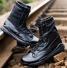 Outdoor Mens Real Leather Ankle Boots Army Tactical Desert Combat Shoes SZ4.5-10