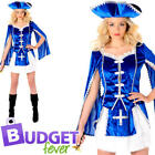 Musketeer Womens Fancy Dress French Fairy Tale Book Day Adult Costume Outfit New