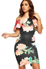 Womens Layered Bardot Mini Dress Ladies Floral Print Off Shoulder Sleeveless New