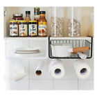 Paper Towel Holder Rack Storage Basket Kitchen Over Cabinet Door Shelf Organizer