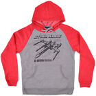 Star Wars Hoodie Gray Red Mens Fleece Wiredx Authentic Fashion S-2XL $15.0 USD