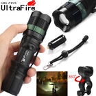 Tactical ZOOM 20000LM T6 LED 18650 Military Flashlight Torch+18650+Charger+Case