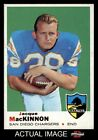1969 Topps #202 Jacque MacKinnon Chargers NM $12.5 USD