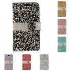 For Samsung Galaxy Note 8 Wallet Case Diamond Bling LUXURY Fashion With Holder