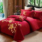 Floral Long-Staple Cotton Duvet Doona Quilt Cover Set Double Queen Size Bedding