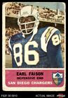 1962 Fleer #87 Earl Faison -  Chargers POOR $4.0 USD