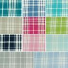 Plaid Tartan Style Gingham Check Squares 100% Cotton Fabric 140cm Wide