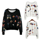 Women's Long Sleeve Pullover Fashion Butterfly Print Hoodie T-shirt Tops New