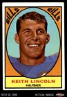 1967 Topps #15 Keith Lincoln Bills GOOD $1.7 USD