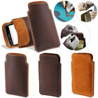 For LG G4c Mini Compact H525N LS751 H502G Genuine Leather Pouch Bag Case Cover