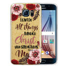 Bible Verses Design Gold Glitter Clear TPU Cover Case For Samsung Galaxy S6 G920