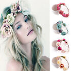 Womens Flower Boho Crown Hairband Bride Headband Wedding Party Photograph Props