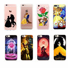 Cartoon Fan Arts Beauty And The Beast Hard PC Cover Case For iPhone 6s 7 8 Plus
