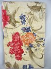 Assorted Sizes Red Blue Peach Sage Floral Vinyl Tablecloth FREE SHIPPING