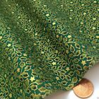 Green & gold tiny holly  Christmas Fabric 100 % cotton  per 1/2 mtr or per FQ
