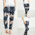US Women Lady Floral Harem Pant Casual Jogger Hip Hop Slacks Trousers Sweatpants