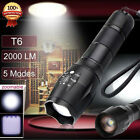 5000LM CREE XML T6 LED Tactical 18650 5-Mode Flashlight Torch Military Alonefire