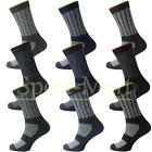 Mens 6 Pack Hard Wearing Work Boot Socks Cushioned Support One Size 6-11