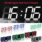 Modern 3D Digital LED Table Night Wall Clock Alarm Watch 24/12 Hour Time Display