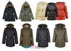 Girls Padded Parka Girls Hooded Long School Jacket Coat Kids 7-13 years