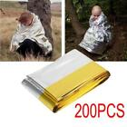 200PCS Outdoor Emergency Solar Blanket Survival Insulating Mylar Thermal US S8P0