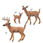 Cute Christmas Mini Deer Figure Doll White-tailed Reindeer Home Party Decor Toys