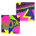 80er Years Decoration Eighties partyzubehoer Decor 80s theme party item