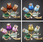 Fashion Flowers Pattern Crystal Brooch Pin Jewelry Clothes Accessories for Women